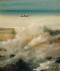 Fine Art - Painting, American:Modern  (1900 1949)  , FROM THE ESTATE OF CHARLES MARTIGNETTE. ERIC SLOANE (American,1910-1985). Douglas Transport. Oil on canvas laid on bo...