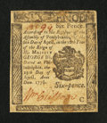 Colonial Notes:Pennsylvania, Pennsylvania April 25, 1776 6d Fine.. ...