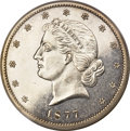Patterns, 1877 50C Half Dollar, Judd-1540, Pollock-1711, Unique, PR62PCGS....