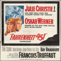 "Movie Posters:Science Fiction, Fahrenheit 451 (Universal, 1967). Six Sheet (81"" X 81""). Science Fiction.. ..."