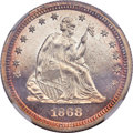 Proof Seated Quarters, 1868 25C PR66 Cameo NGC....