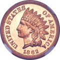 Proof Indian Cents, 1862 1C PR66 Cameo NGC....