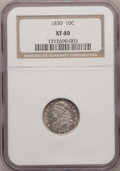 Bust Dimes: , 1830 10C Medium 10C XF40 NGC. NGC Census: (3/149). PCGS Population(7/153). Mintage: 510,000. Numismedia Wsl. Price for pro...