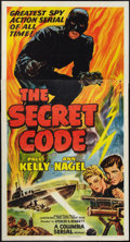 "Movie Posters:Serial, The Secret Code (Columbia, R-1953). Three Sheet (41"" X 81""). Serial.. ..."