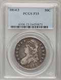 Bust Half Dollars: , 1814/3 50C Fine 15 PCGS. PCGS Population (2/128). NGC Census:(1/98). Numismedia Wsl. Price for problem free NGC/PCGS coin...
