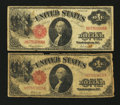 Fr. 36 and Fr. 37 $1 1917 Legal Tender Notes Very Good