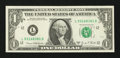 Error Notes:Blank Reverse (<100%), Fr. 1907-L $1 1969D Federal Reserve Note. Choice AboutUncirculated.. ...