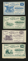 Obsoletes By State:Ohio, Cuyahoga Falls, OH- W.A. Hanford payable at Summit County Bank 5¢;10¢; 25¢; 50¢ Oct. 1862. ... (Total: 4 notes)
