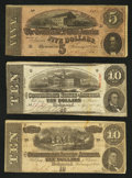 Confederate Notes:Group Lots, Mixed Lots of Confederate Notes. Three Examples.. ... (Total: 3notes)