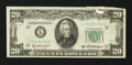 Error Notes:Attached Tabs, Fr. 2061-L $20 1950B Federal Reserve Note. Very Fine+.. ...
