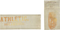 Baseball Collectibles:Others, 1865 Philadelphia Athletics Original Ephemera Lot of 2....