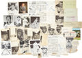 Baseball Collectibles:Others, Baseball Stars and Hall of Famers Signed Memorabilia Lot of 47....