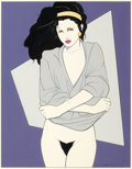 Paintings, PATRICK NAGEL (American, 1945-1984). Undressing. Mixed media. 17.5 x 13.5 in.. Signed lower right. ...