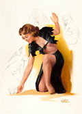 Pin-up and Glamour Art, TED WITHERS (American, 1896-1964). Tiddlywinks, Prescription byWithers calendar pin-up illustration. Oil and graphite o...