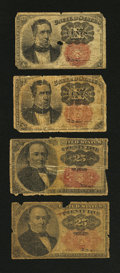 Fractional Currency:Fifth Issue, Four Rough Fifth Issue Fractionals Good.. ... (Total: 4 notes)