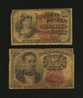 Fractional Currency:Fifth Issue, Two 10¢ Fractional Notes Good.... (Total: 2 notes)