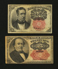 Fractional Currency:Fifth Issue, Two Fifth Issue Notes Fine.... (Total: 2 notes)