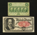 Fractional Currency:First Issue, Two Fifty Cent Fractional Notes.... (Total: 2 notes)