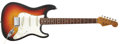Musical Instruments:Electric Guitars, 1965 Fender Stratocaster Sunburst Guitar, #L55295.... (Total: 2 Items)