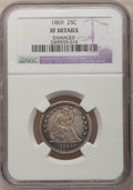 Seated Quarters: , 1869 25C --Damaged--NGC Details. XF. NGC Census: (0/12). PCGSPopulation (4/14). Mintage: 16,000. Numismedia Wsl. Price for ...