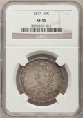 Bust Half Dollars: , 1817 50C XF45 NGC. NGC Census: (43/239). PCGS Population (62/235).Mintage: 1,215,567. Numismedia Wsl. Price for problem fr...