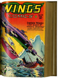 Golden Age (1938-1955):War, Wings Comics #73-84 Bound Volume (Fiction House, 1946-47)....