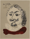 Prints, Pablo Picasso (Spanish, 1881-1973). . Imaginary Portraits (#21 of a series of 29) . 1969. Lithograph. Signed...