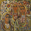 Paintings, Christo Todorov (Yugoslavian, born 1935). . Untitled (Three Women) . 20th century. Oil on canvas. Initialed ...