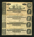 Confederate Notes:1864 Issues, T67 $20 1864.. . ... (Total: 4 notes)