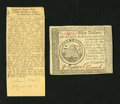 Colonial Notes:Continental Congress Issues, Continental Currency September 26, 1778 $50 Very Fine.... (Total: 2items)