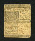 Colonial Notes:Delaware, Delaware June 1, 1759 20s Very Fine....
