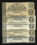 Confederate Notes:1863 Issues, T67 $20 1864 Five Examples.. . ... (Total: 5 notes)