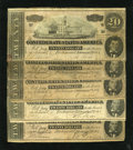 Confederate Notes:1864 Issues, T67 $20 1864 Five Examples.. . ... (Total: 5 notes)