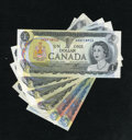 Canadian Currency: , Fourteen Dollars Face Canadian.. ... (Total: 6 notes)