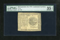 "Colonial Notes:Continental Congress Issues, Continental Currency September 26, 1778 $20 PMG Choice Very Fine 35EPQ. This note is deemed to have ""exceptional paper qual..."