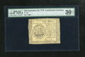 Colonial Notes:Continental Congress Issues, Continental Currency September 26, 1778 $50 PMG Very Fine 30 EPQ.This is a nice representative for the grade....