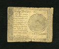 Colonial Notes:Continental Congress Issues, Continental Currency September 26, 1778 $60 Very Good. The backshows loss of detail, while the face is nice for the grade....