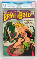 Silver Age (1956-1969):Adventure, The Brave and the Bold #17 (DC, 1958) CGC VF- 7.5 Off-white pages....