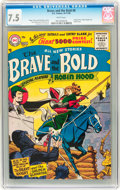 Silver Age (1956-1969):Adventure, The Brave and the Bold #8 (DC, 1956) CGC VF- 7.5 White pages....