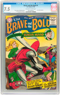 Silver Age (1956-1969):Adventure, The Brave and the Bold #6 (DC, 1956) CGC VF- 7.5 Off-white to white pages....
