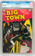 Golden Age (1938-1955):Crime, Big Town #2 (DC, 1951) CGC VF/NM 9.0 Off-white to white pages....