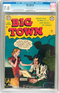 Golden Age (1938-1955):Crime, Big Town #1 (DC, 1951) CGC FN/VF 7.0 Off-white to white pages....