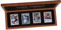 "Baseball Collectibles:Others, Joe DiMaggio, Eddie Murray and Eddie Mathews ""Signature Series""Ceramic Signed Card Set Lot of 3 (7 Autographs)...."