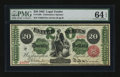 Large Size:Legal Tender Notes, Fr. 126b $20 1863 Legal Tender PMG Choice Uncirculated 64 EPQ.. ...