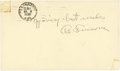 Baseball Collectibles:Others, 1956 Al Simmons Signed Government Postcard....