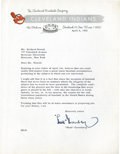 Baseball Collectibles:Others, 1952 Hank Greenberg Signed Letter....