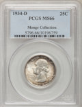 Washington Quarters, 1934-D 25C Medium Motto MS66 PCGS....