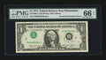 Error Notes:Inverted Third Printings, Fr. 1908-C $1 1974 Federal Reserve Note. PMG Gem Uncirculated 66EPQ.. ...