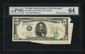 Error Notes:Foldovers, Fr. 1961-D $5 1950 Federal Reserve Note. PMG Choice Uncirculated64.. ...