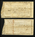 Colonial Notes:Connecticut, Connecticut Treasury Office. June 1, 1782. Two Examples.. ...(Total: 2 notes)